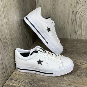 Converse One Star Platform OX Leather35c